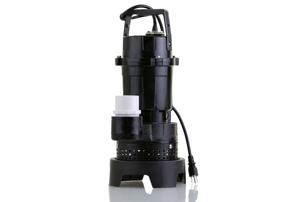 A typical sump pump